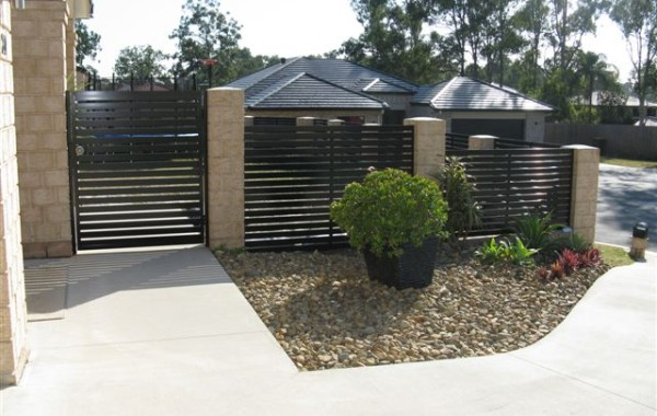 Horizontal Slat Pedestrian Gate & Fence Panels