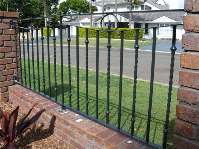 steel decorative fencing with scrolls - Decorative Fencing