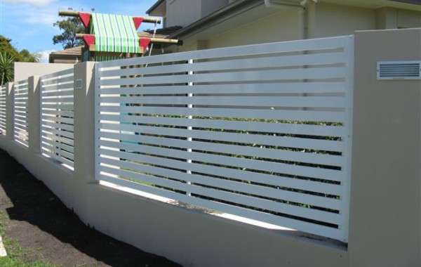Horizontal Slat Fence Panel