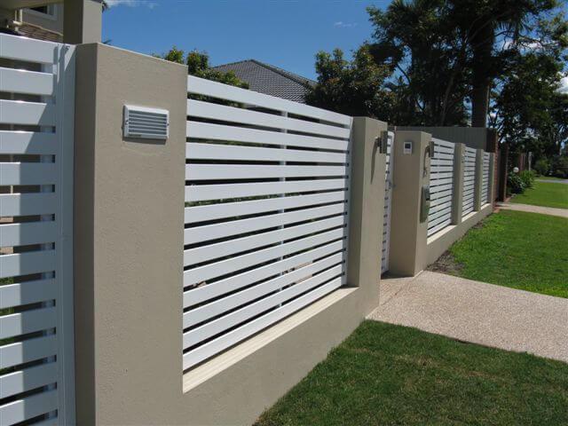 Best Horizontal Slat Fence panels - Brisbane Gates OI59