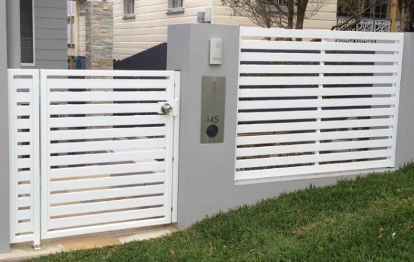 Horizontal Slat Ped Gate & Fence Panel