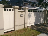 Colonial Vertical Double Swing & Ped Gate - White Birch