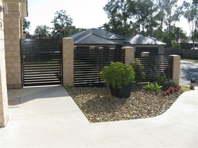 Horizontal Slat Pedestrian Gate & Fence Panels