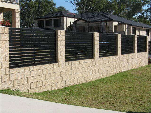 Horizontal Slat Fence Panels minimum gap