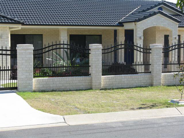 Wave top Fence Panels with Doggy Bars & Spears