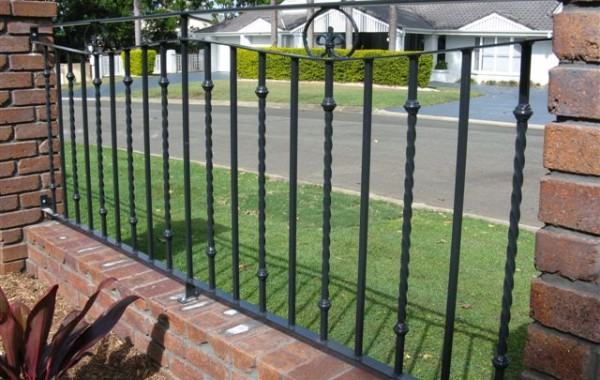 Steel Decorative Fencing with scrolls