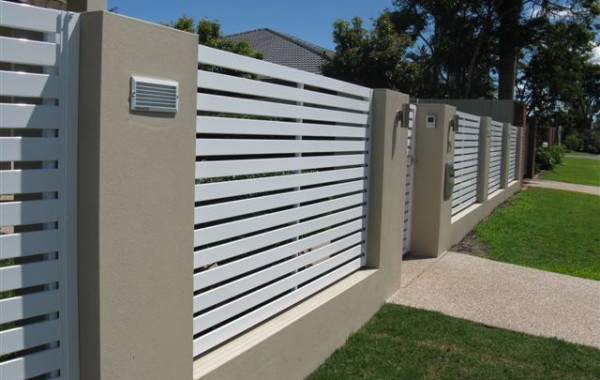 Horizontal Slat Fence panels