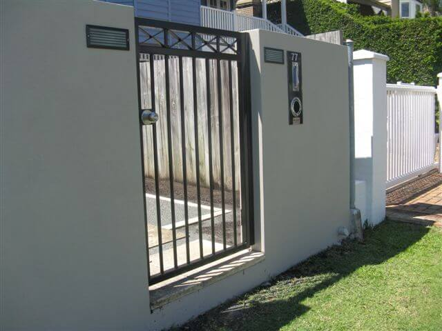 Maleny Pedestrian Gate with Stainless Steel Knob Set