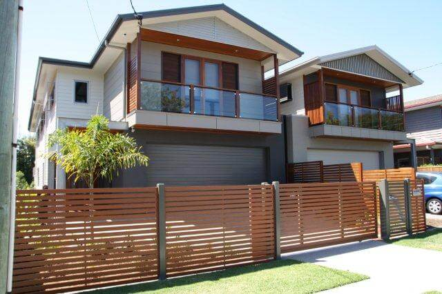Timber look Slider & Fence Panels in Bush Cherry