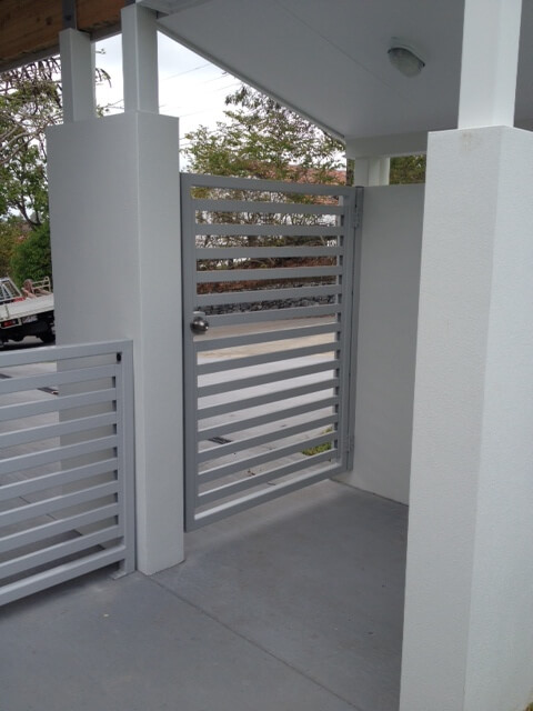 Horizontal Slat Pedestrian Gate