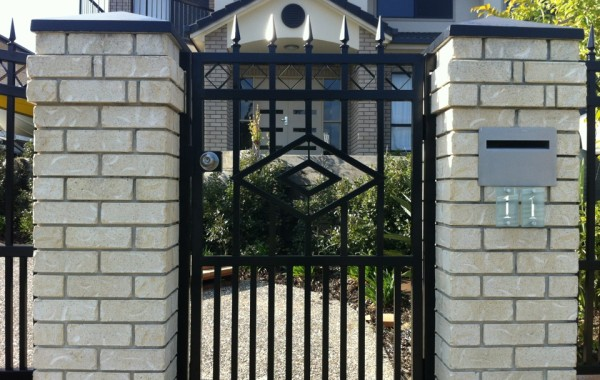 Pedestrian Gate with Diamonds, Diamond Spears & Squares