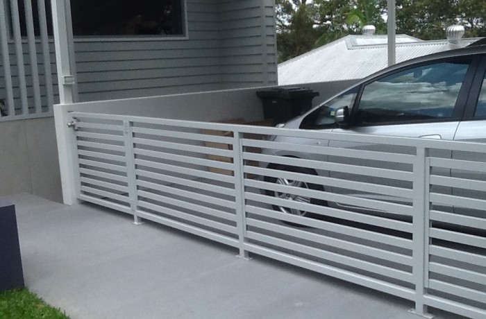 Carport Enclosure Horizontal Slat